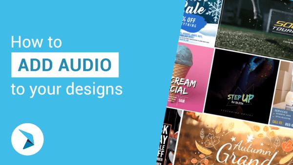 Come aggiungere audio ai tuoi progetti